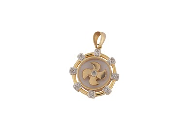 Lot 131-A diamond pendant