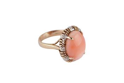 Lot 129-A coral and diamond ring