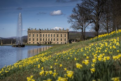 Lot 7-Tour of Chatsworth with the Duke of Devonshire, afternoon tea, and three-night stay for six