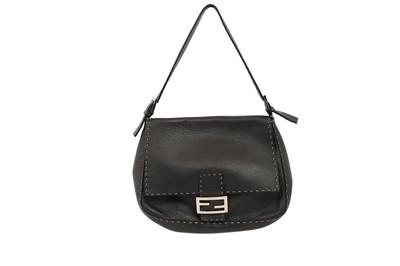 Lot 454 - Fendi Black Selleria Mama Baguette Bag