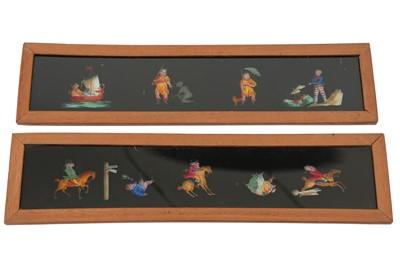 Lot 59-A Selection of Mahogany Mounted Hand Painted Magic Lantern Slides