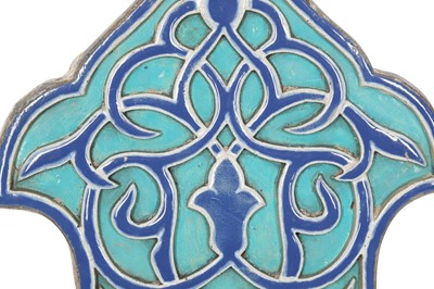 Lot 817-A PAIR OF OTTOMAN-REVIVAL ARCHITECTURAL POTTERY WALL TILES