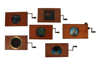 Lot 60-A Good Selection of Mahogany Rackwork Magic Lantern Slides