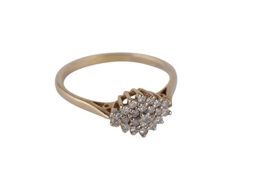 Lot 106-A diamond cluster ring