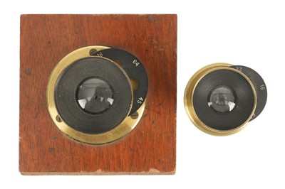 Lot 3-An Emil Busch Wide Angle Aplanat Ser.C f/16 No. 2 Brass Lens