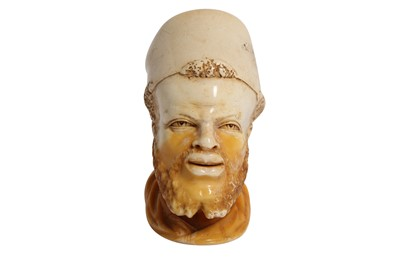 Lot 827-A CASED MEERSCHAUM PIPE WITH A TURKISH PASHA'S HEAD