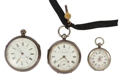 Lot 145-A Edwardian silver cased open face pocket watch, retailed by T Fattorini of Bolton and Skipton