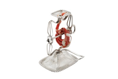 Lot 74 - An Edwardian sterling silver wax jack, Chester 1904 by Stokes & Ireland Ltd