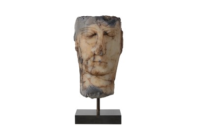 Lot 1-A SOUTH ARABIAN ALABASTER HEAD, CIRCA 1ST CENTURY B.C. - 1ST CENTURY A.D.