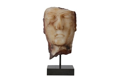 Lot 2-A SOUTH ARABIAN ALABASTER HEAD, CIRCA 1ST CENTURY B.C. - 1ST CENTURY A.D.