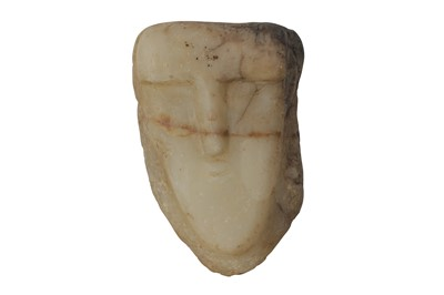 Lot 5-A SOUTH ARABIAN ALABASTER HEAD OF A MAN, CIRCA 1ST CENTURY B.C.- 1ST CENTURY A.D.