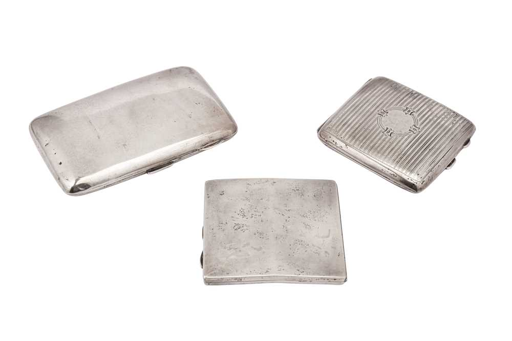 Lot 38-A mixed group of sterling silver cigarette cases