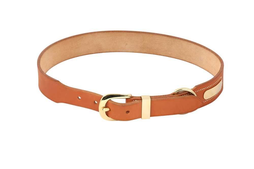 Lot 1240-Hermes Vache Naturelle Belt - Size 70