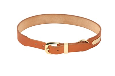 Lot 1240-Hermes Vache Naturelle Belt - Size 70