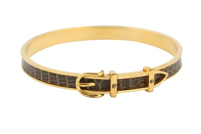 Lot 1251-Hermes Brown Belt Bangle