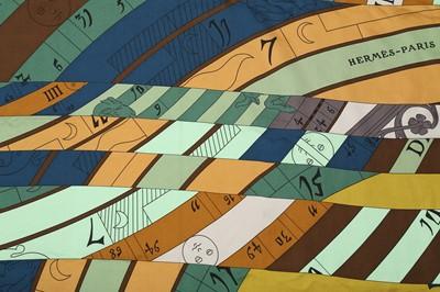 Lot 1234-Hermes 'Asttrologie Nouvelle' Silk Scarf/Shawl