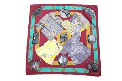 Lot 42-Hermes 'Kimonos et Inros' Silk Scarf