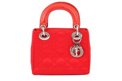 Lot 4-Christian Dior Red Mini Lady Dior Bag