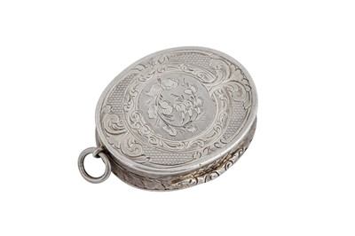 Lot 10 - A Victorian sterling silver vinaigrette, Birmingham 1858 by Aston & Son