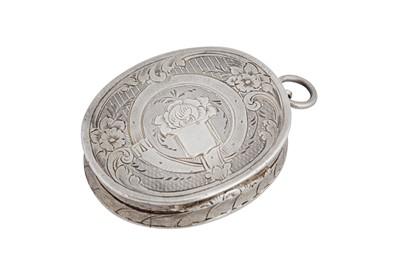 Lot 10-A Victorian sterling silver vinaigrette, Birmingham 1858 by Aston & Son