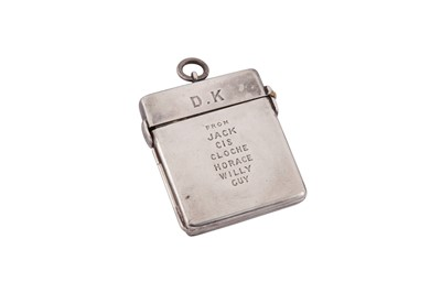 Lot 27 - An Edwardian sterling silver concertina cased set of butt markers, London 1905 by Asprey's