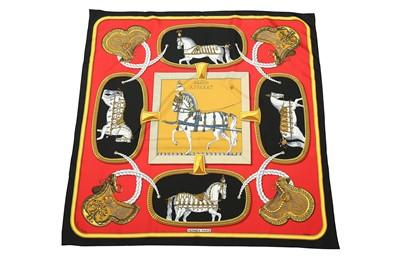 Lot 15-Hermes 'Grand Apparat' Silk Scarf