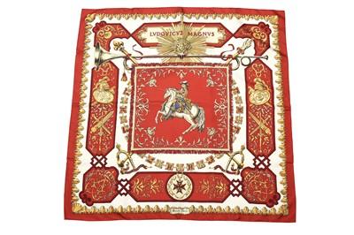 Lot 17-Hermes 'Ludovicus Magnus' Silk Scarf