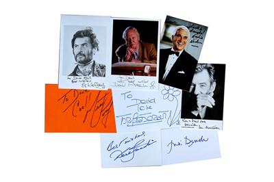 Lot 121-Autograph Collection.- Actors & Entertainers