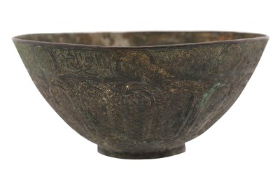 Lot 118-AN ENGRAVED BRONZE MAMLUK BOWL