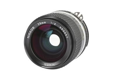 Lot 77-A Nikon 28mm f/2 Nikkor AIS Lens