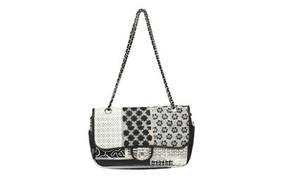 Lot 1294-Chanel Limited Edition Silicone Patchwork Single Flap