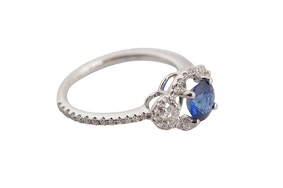 Lot 38-A sapphire and diamond ring