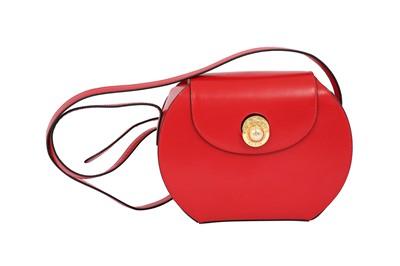 Lot 6-Celine Red Shoulder Bag