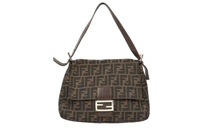 Lot 192 - Fendi Brown Zucca Mama Baguette Bag