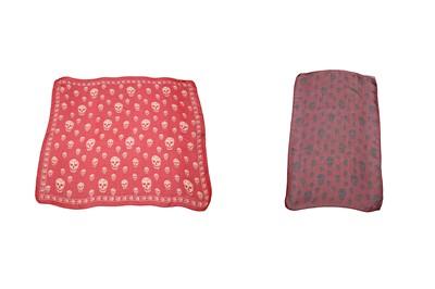 Lot 19-Alexander McQueen Silk Skull Print Scarves