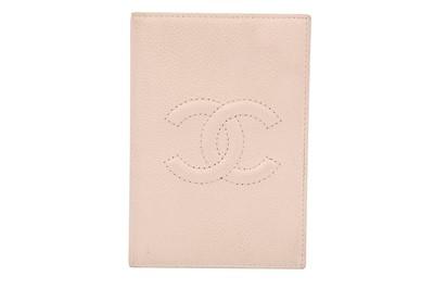 Lot 32-Chanel Pale Pink CC Logo Passport Holder