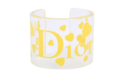 Lot 1236-Christian Dior Yellow Transparent Lucite Cuff