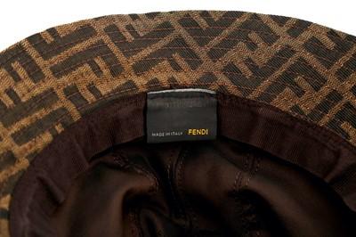 Lot 1246-Fendi Brown Zucca Bucket Hat - Size M