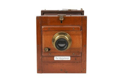 Lot 41-A J. Lancaster & Son 1/4 plate 'The International' Tailboard Camera