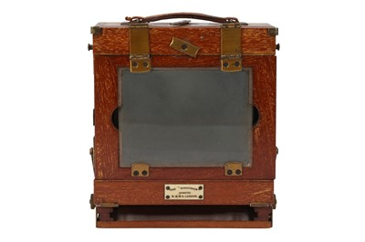 Lot 10-An Early Sanderson Regular Quarter Plate Camera
