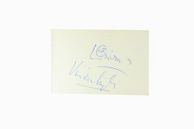 Lot 118-Autograph Album.- Theatre