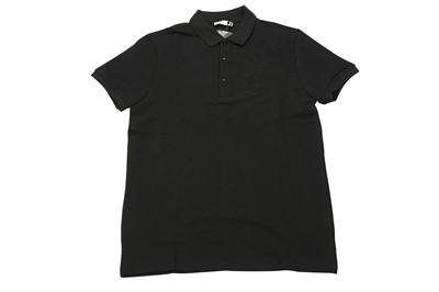 Lot 1293-Versace Collection Black Medusa Logo Polo Shirt - Size S