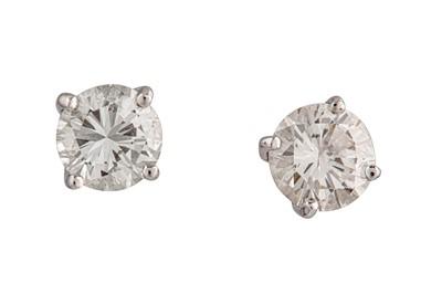 Lot 25-A pair of diamond earstuds