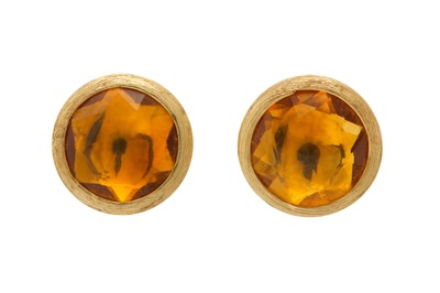 Lot 1216-Marco Bicego | A pair of gold and citrine earstuds