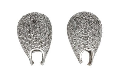 Lot 1226-A pair of diamond earrings