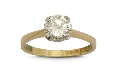 Lot 1242-A diamond single-stone ring