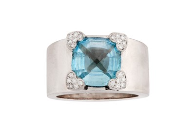 Lot 1247-Chopard | A blue topaz and diamond ring