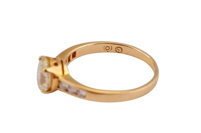 Lot 15-A diamond single-stone ring