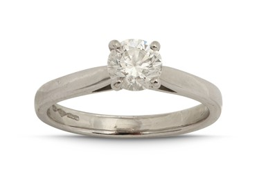 Lot 1224-A diamond single-stone ring