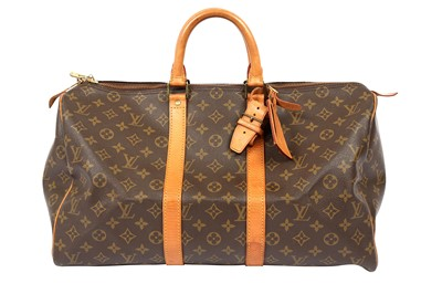 Lot 1242-Louis Vuitton Monogram Keepall 45